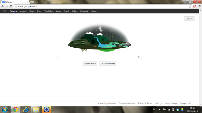 Animated google doodle on earth day 2013